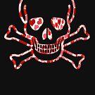 Skull with Hearts - Cool Skull Design by Denis Marsili