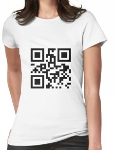 Fuck you with Qr code Womens Fitted T-Shirt