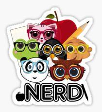 Nerd 3 - Black Sticker