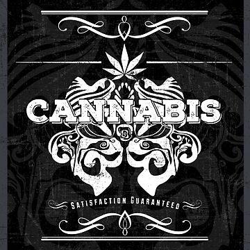 Cannabis Art Deco Retro Design by hollycraychee