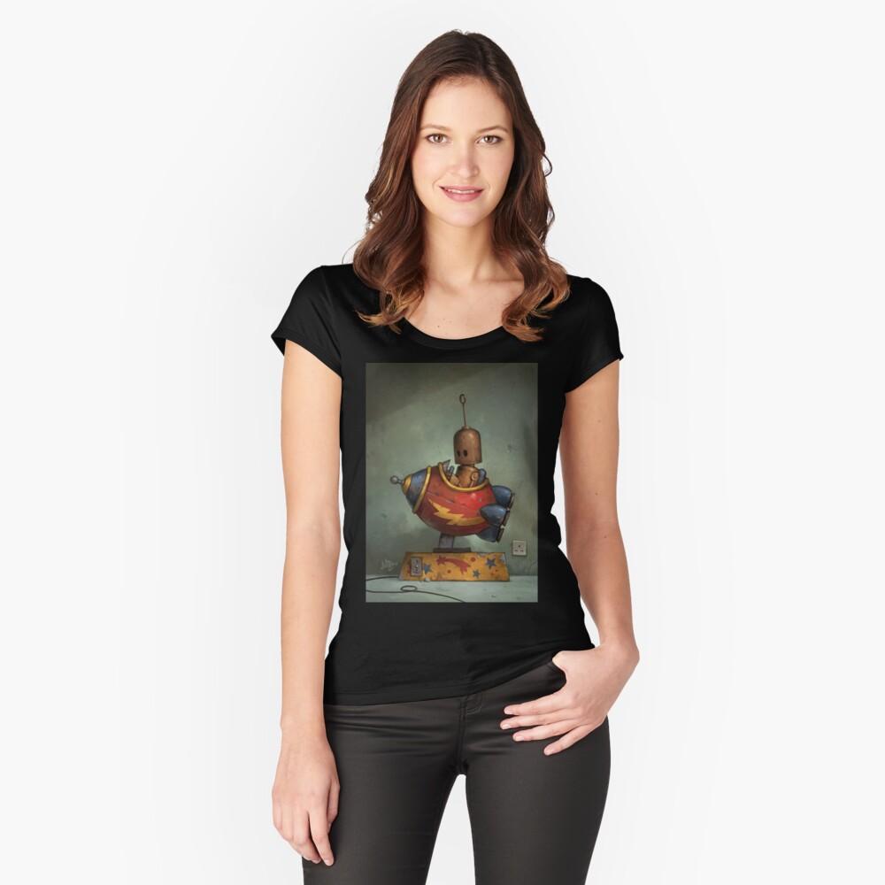 Zu mutig gehen Tailliertes Rundhals-Shirt