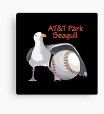 AT&T Park Seagull Canvas Print