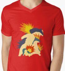 Cyndaquil Evolution Men's V-Neck T-Shirt