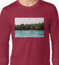 Plovdiv Singing Fountains - Bright Aquamarine Water, Dancing Jets and Music Long Sleeve T-Shirt