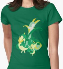Snivy Evolution Women's Fitted T-Shirt