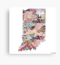 Indiana map Canvas Print