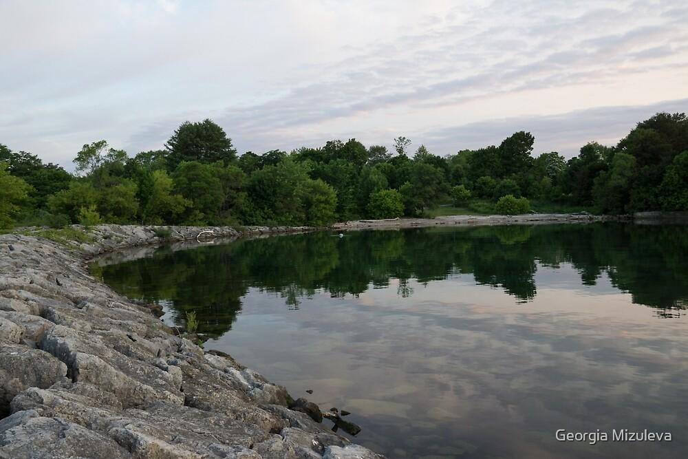 Summer Morning Tranquility - Lake Ontario in Toronto by Georgia Mizuleva