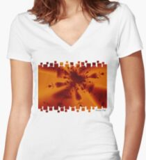 Ink Explosion Women's Fitted V-Neck T-Shirt