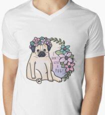 I don't give a pug! T-Shirt mit V-Ausschnitt für Männer
