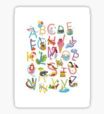 Alphabet poster Sticker