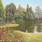Sheffield Park Gardens, East Sussex in Pastel by Fiona Cross