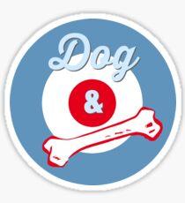 Dog & Bone Cockney Rhyming Slang Slogan Gifts for Dog Lovers Sticker