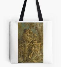 Giovanni Domenico Tiepolo A GROUP OF CLASSICAL FIGURES WITH TWO ELDERS ANOINTING A YOUNG MAN Tote Bag