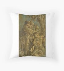 Giovanni Domenico Tiepolo A GROUP OF CLASSICAL FIGURES WITH TWO ELDERS ANOINTING A YOUNG MAN Throw Pillow