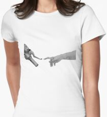 Creation of Adam Motorcycle Version Women's Fitted T-Shirt