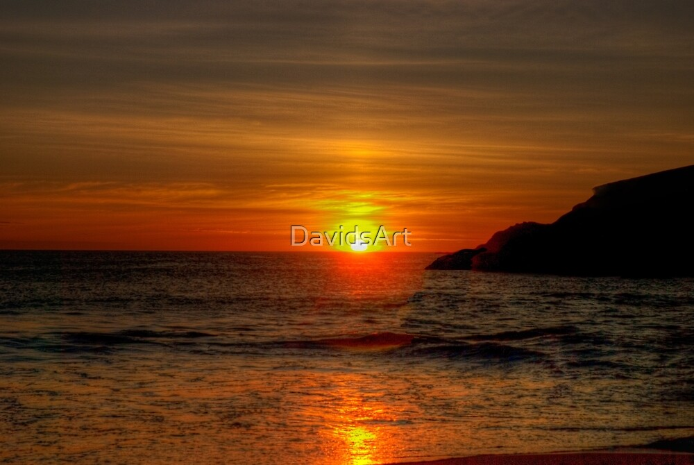 0573 Sunset at Squeaky Beach by DavidsArt