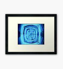Blue Vortex - Apophysis 7 Framed Print