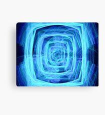 Blue Vortex - Apophysis 7 Canvas Print