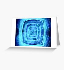 Blue Vortex - Apophysis 7 Greeting Card