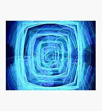 Blue Vortex - Apophysis 7 Photographic Print