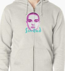 sinead o'connor - face Zipped Hoodie