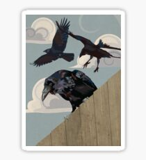Crow invasion Sticker