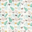 Leaf Me Alone Cat Pattern by Ryan Conners