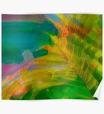 Abstract Palm Art tshirt Poster
