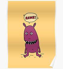 Rawr! Monster Poster