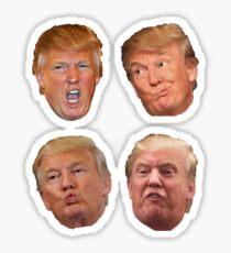 4 pack stickers Trump Heads Sticker