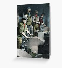 Sheffield Knife Grinders Greeting Card