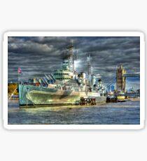 HMS Belfast and Tower Bridge Sticker
