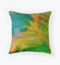 Abstract Palm Art tshirt Throw Pillow