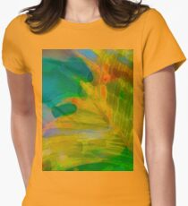 Abstract Palm Art tshirt Women's Fitted T-Shirt