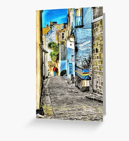 A back street in St. Ives Greeting Card