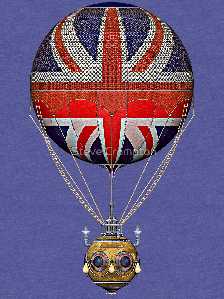 Steampunk Union Jack Vintage Hot Air Balloon by SC001