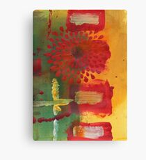 Red Spray Flower Canvas Print