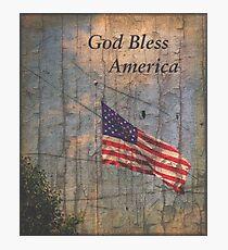 God Bless America Photographic Print