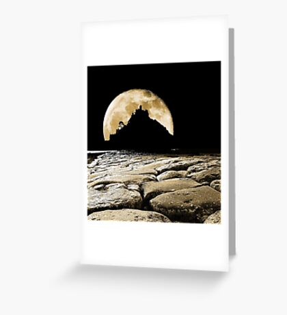 By the light of the Sepia moon. Greeting Card