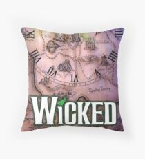 Wicked the musical OZ map Throw Pillow