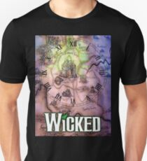 Wicked the musical OZ map Unisex T-Shirt