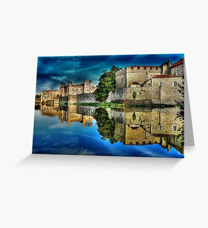 Reflections from a majestic Castle HDR Greeting Card