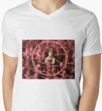 Closeup of the Hero August Landmesser Men's V-Neck T-Shirt