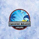 Waikiki Beach Hawaii Surfing Wave Palm Tree Surf Travel Vacation by MyHandmadeSigns