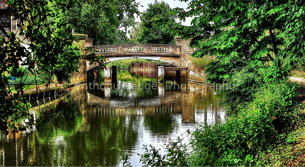 Pathway to the bridge HDR by Anthony Hedger Photography