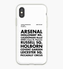 Piccadilly Line in Futura iPhone Case