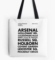 Piccadilly Line in Futura Tote Bag