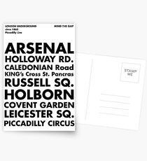 Piccadilly Line in Futura Postcards