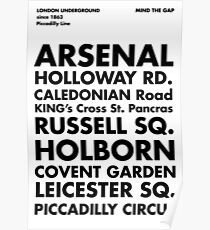 Piccadilly Line in Futura Poster