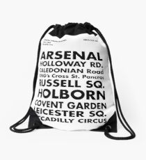 Piccadilly Line in Futura Drawstring Bag